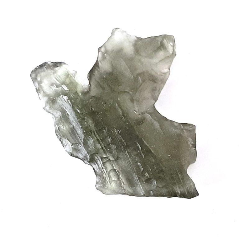 "Moldavite. Meteorite impact glass. ""The Dove""."