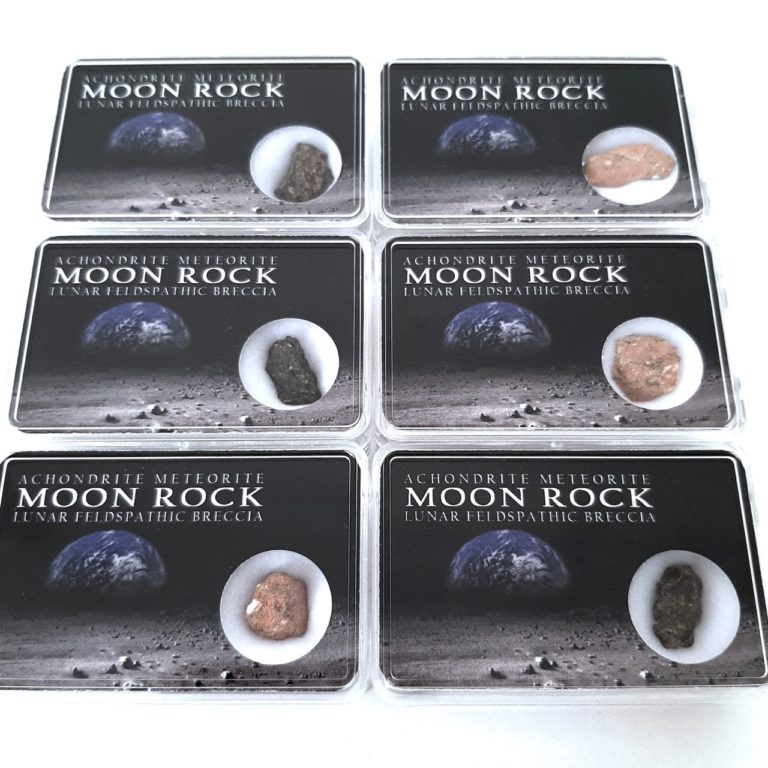 Lunar meteorite. NWA 11474 paired. Moon rock. Collection box.