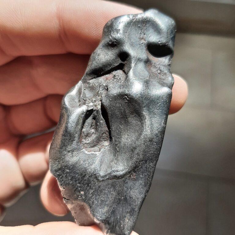 """Sikhote Alin meteorite. Oriented. """"The scream""""."""