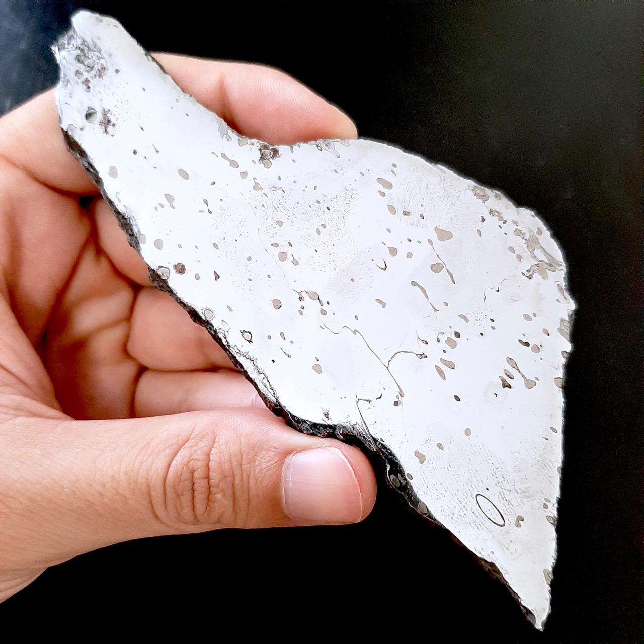 Dronino meteorite. Mirror polished slice.
